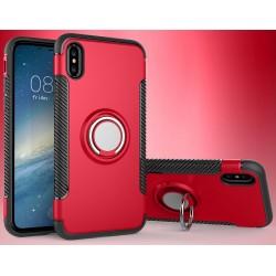 iPhone X etui magnetyczne RING HOLDER case Czerwone