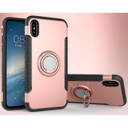 iPhone X etui magnetyczne RING HOLDER case Różowe