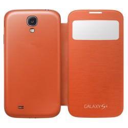 Do Samsung Galaxy S4 etui Flip Cover S-View- POMARAŃCZOWE