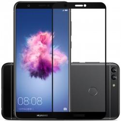 Huawei P Smart Szkło Hartowane PEŁNE 3D Hybryda - CZARNE