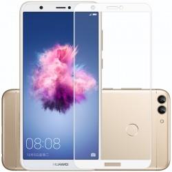Huawei P Smart Szkło Hartowane PEŁNE 3D Hybryda - BIAŁE