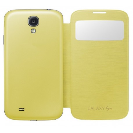 Do Samsung Galaxy S4 etui Flip Cover S-View- ŻÓŁTE