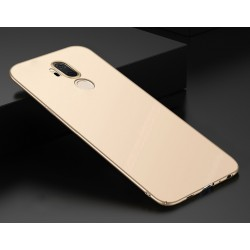 LG G7 ThinQ etui na telefon Silky Touch - Złote