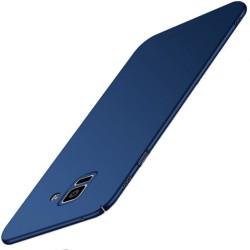 Samsung Galaxy A6 Plus etui na telefon Silky Touch - Granatowe