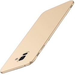 Samsung Galaxy A6 Plus etui na telefon Silky Touch - Złote