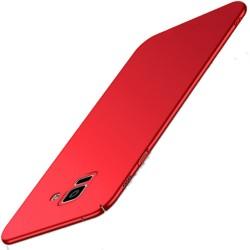 Samsung Galaxy A6 Plus etui na telefon Silky Touch - Czerwone