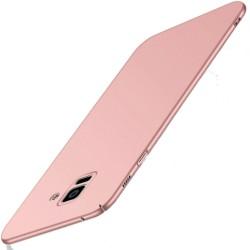 Samsung Galaxy A6 Plus etui na telefon Silky Touch - Różowe