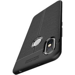 Xiaomi Redmi S2 etui  Pancerne KARBON Case SKÓRA - Czarne