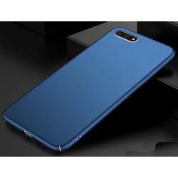 Huawei Y6 2018 etui na telefon Silky Touch - Granatowe