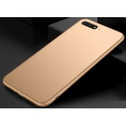 Huawei Y6 2018 etui na telefon Silky Touch - Złote