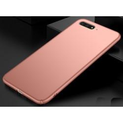 Huawei Y6 2018 etui na telefon Silky Touch - Różowe