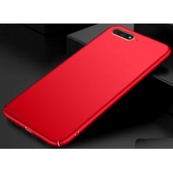 Huawei Y6 2018 etui na telefon Silky Touch - Czerwone