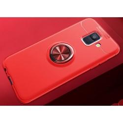 Samsung Galaxy J6 2018 etui KARBON RING MAGNET Red