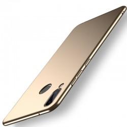Huawei Honor Play etui na telefon Silky Touch - Złote