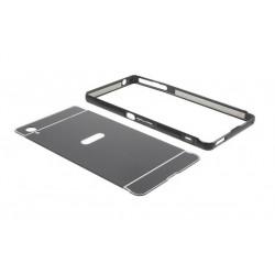 Sony Xperia M4 Aqua, etui Bumper Aluminiowe- CZARNE