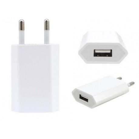 Adapter ścienny USB do ładowarek, uniwersalny- Biały