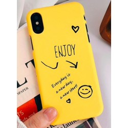 iPhone X / XS etui na telefon FUNNY Case LACK Enjoy