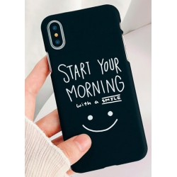 iPhone X / XS etui na telefon FUNNY Case LACK Morning