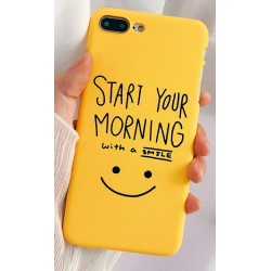 iPhone X / XS etui na telefon FUNNY Case LACK Morning 2
