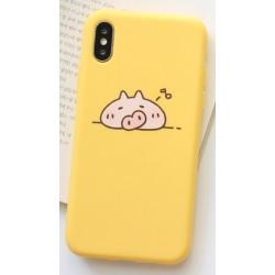 iPhone X / XS etui na telefon FUNNY Case LACK Świnka