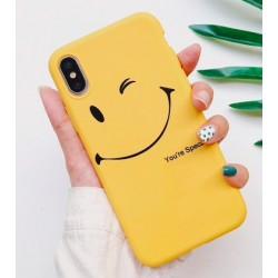 iPhone X / XS etui na telefon FUNNY Case LACK Smile