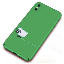 iPhone X / XS etui na telefon FUNNY Case LACK Owieczka