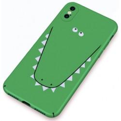iPhone X / XS etui na telefon FUNNY Case LACK Krokodyl