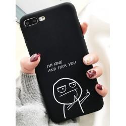 iPhone X / XS etui na telefon FUNNY Case LACK Palec 2