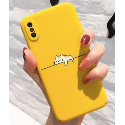 iPhone X / XS etui na telefon FUNNY Case LACK Lazy Cat