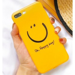 iPhone X / XS etui na telefon FUNNY Case LACK Happy day