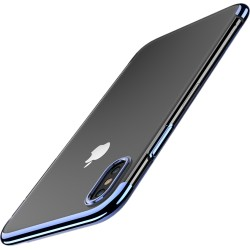 iPhone XR etui na telefon Silikonowe ELEGANCE Niebieskie