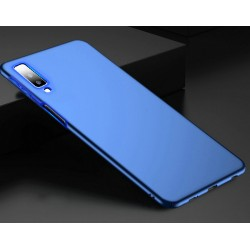 Samsung Galaxy A7 2018 etui na telefon Silky Case - Niebieskie