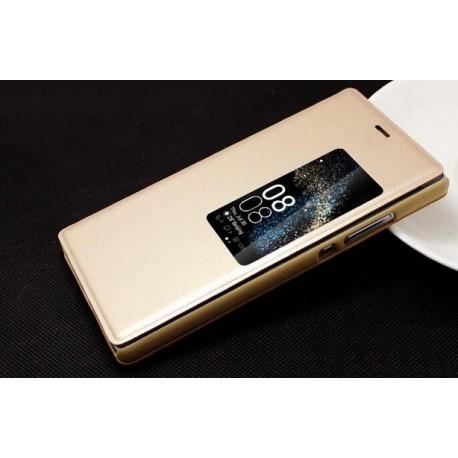Huawei P8 etui Flip Cover S-View- ZŁOTE