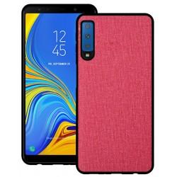 Samsung Galaxy A7 2018 etui na telefon CARPET case - Grafitowe