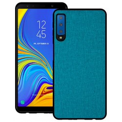 Samsung Galaxy A7 2018 etui na telefon CARPET case - Cyjan