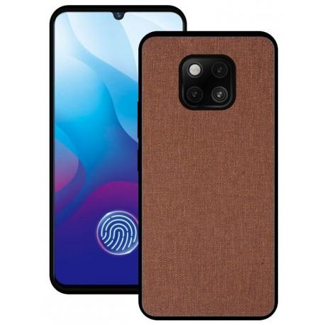 Huawei Mate 20 Pro etui na telefon CARPET case - Brązowe