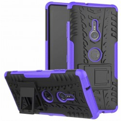 Sony Xperia XZ3 etui na telefon Pancerne Armor - FIOLETOWE