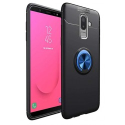 Samsung Galaxy J4+ Plus etui na telefon  KARBON RING HOLDER Niebieskie