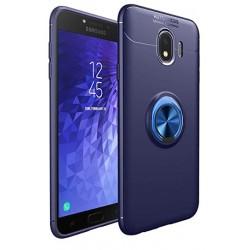 Samsung Galaxy J4+ Plus etui na telefon  KARBON RING HOLDER Blue