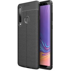 Samsung Galaxy A9 2018 etui na telefon KARBON Case SKÓRA - Czarne