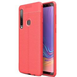 Samsung Galaxy A9 2018 etui na telefon KARBON Case SKÓRA - Czerwone