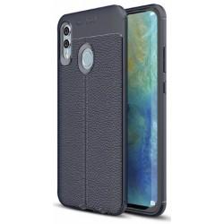 Huawei P Smart 2019 etui na telefon KARBON Case SKÓRA - Granatowe