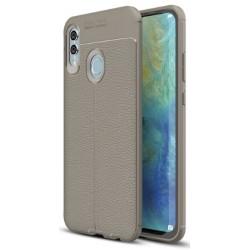 Huawei P Smart 2019 etui na telefon KARBON Case SKÓRA - Grafitowe