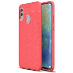 Huawei P Smart 2019 etui na telefon KARBON Case SKÓRA - Czerwone