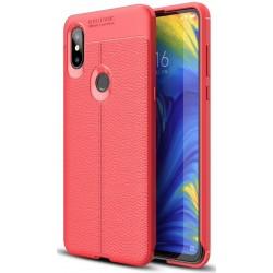 Xiaomi Mi Mix 3 etui na telefon KARBON Case SKÓRA - Czerwone