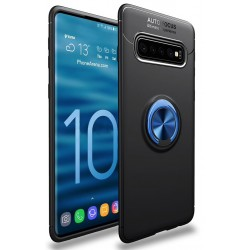 Etui na telefon Samsung Galaxy S10+ Plus KARBON RING HOLDER Niebieskie