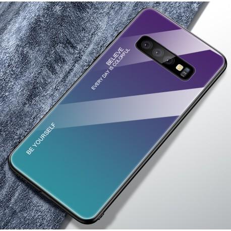 Etui na telefon Samsung Galaxy S10+ Plus Ombre szklane turkus