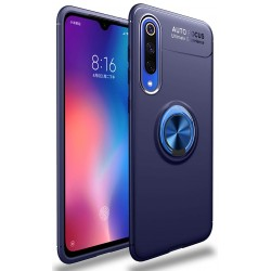 Etui na telefon Xiaomi Mi9 SE KARBON RING HOLDER Blue