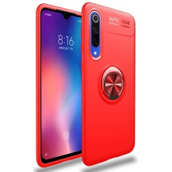 Etui na telefon Xiaomi Mi9 SE KARBON RING HOLDER Red