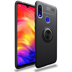 Etui na telefon Xiaomi Redmi Note 7 KARBON RING HOLDER Czarne
